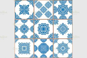 tiles seamless patterns set