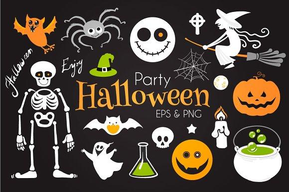 Halloween Elements Set. EPS10 & PNG - Illustrations