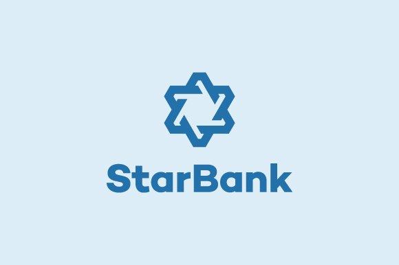 Star Bank - Abstract & Symbol Logo in Logo Templates