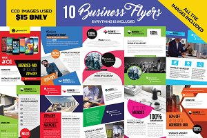 10 Corporate Flyers Template Bundle