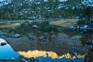 Sunset Reflection on Upper Pine Lake