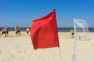 Baltic beach. Football