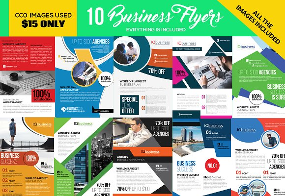 10 Corporate Flyers Template Bundle in Flyer Templates