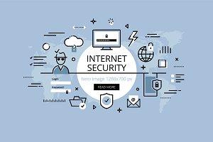 Internet security hero banner set