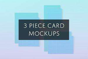 3 Piece Card Mockups
