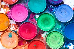 Vibrant Watercolor Paint Palette