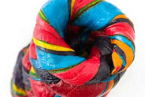 Colorful bagels
