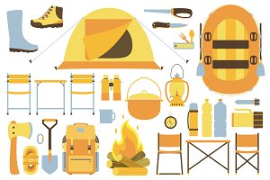 Hiking equipment set