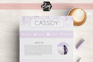 Blog Media Kit - 2 Page 'Cassidy'