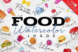 Food Watercolor Logos