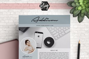 Blog Media Kit - 2 Page 'Addison'