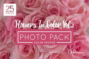 25 Color Flower Vol 1. Photos Hi Res