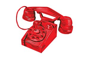 Telephone Vintage Drawing