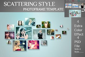 Scattering Style Photo Template