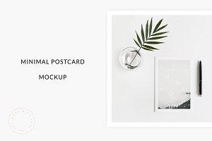 Minimal Postcard Mockup