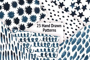 25 Hand Drawn Patterns
