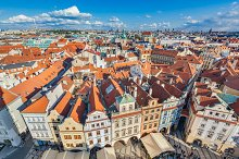 Cityscape of Prague, Czech Republic.