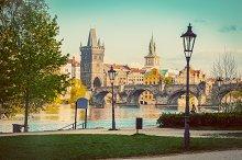 Prague in Czech Republic. Vintage