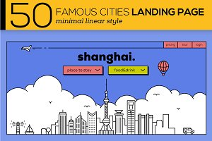 50 Famous Cities Landing Page