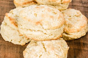 Fresh baked warm rustic biscuits