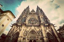 St. Vitus Cathedral, Prague. Vintage