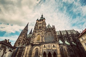 St. Vitus Cathedral, Prague. Vintage