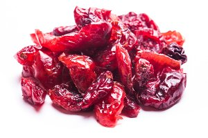 Dried cranberries isolated