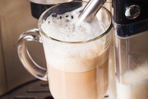 Homemade latte Espresso