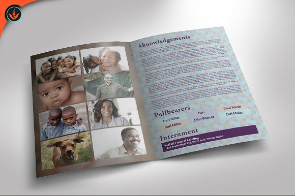 passport funeral program template brochure templates creative market