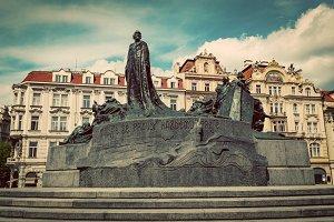 Old Town Square of Prague. Vintage.