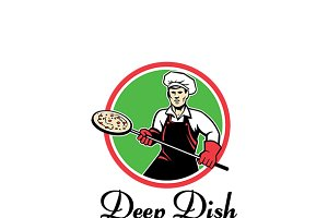 Deep Dish Pizza Logo