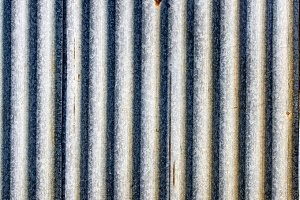 Rusted metal sheeting