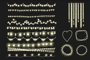 Fairy lights clipart, string lights.