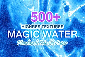 Magic Water. 500+ Marbled Paper