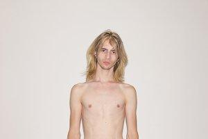 young man male model polaroid