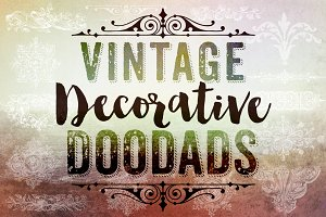 Vintage Decorative Doodads Brushes
