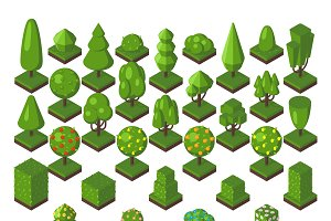 Green isometric tree vector set