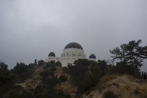 Griffith Observatory on a Foggy Day
