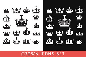 Crown Icons Set.