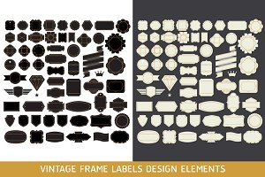 Retro Vintage Frame Labels Design.