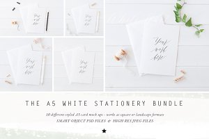 BUNDLE - A5 stationery cards mock up