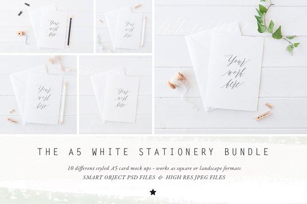 BUNDLE - A5 stationery cards mock u…
