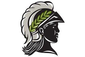 Minerva Head Profile Silhouette
