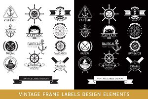 Nautical Vessels Vintage Labels.