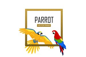 Ara Parrot Flat Design