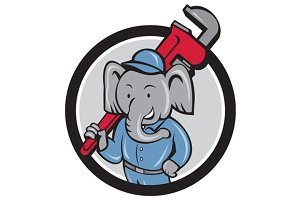 Elephant Plumber Monkey Wrench