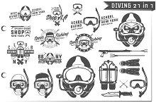 21 in 1 Set of Scuba Diving