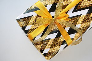 Gold present box