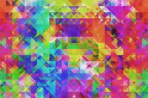 Candy Color Triangle Mosaic Pattern