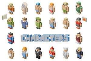 Vector isometric character